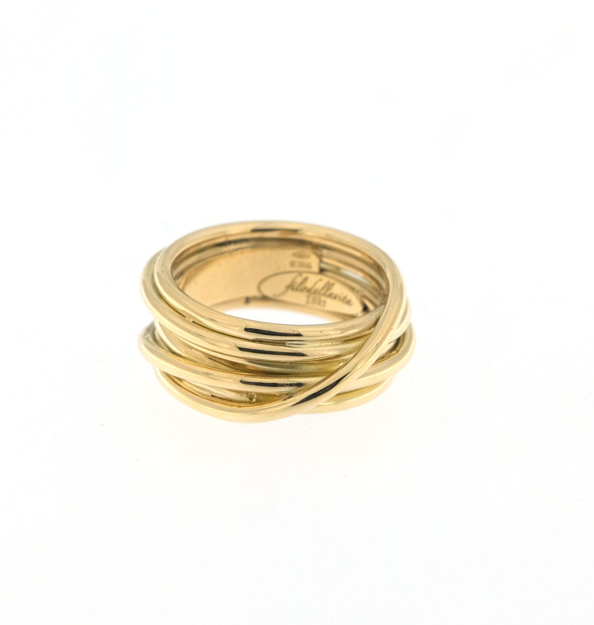 sito affidabile a5762 4e968 Anello Filodellavita Leda Collection 7 fili in oro giallo