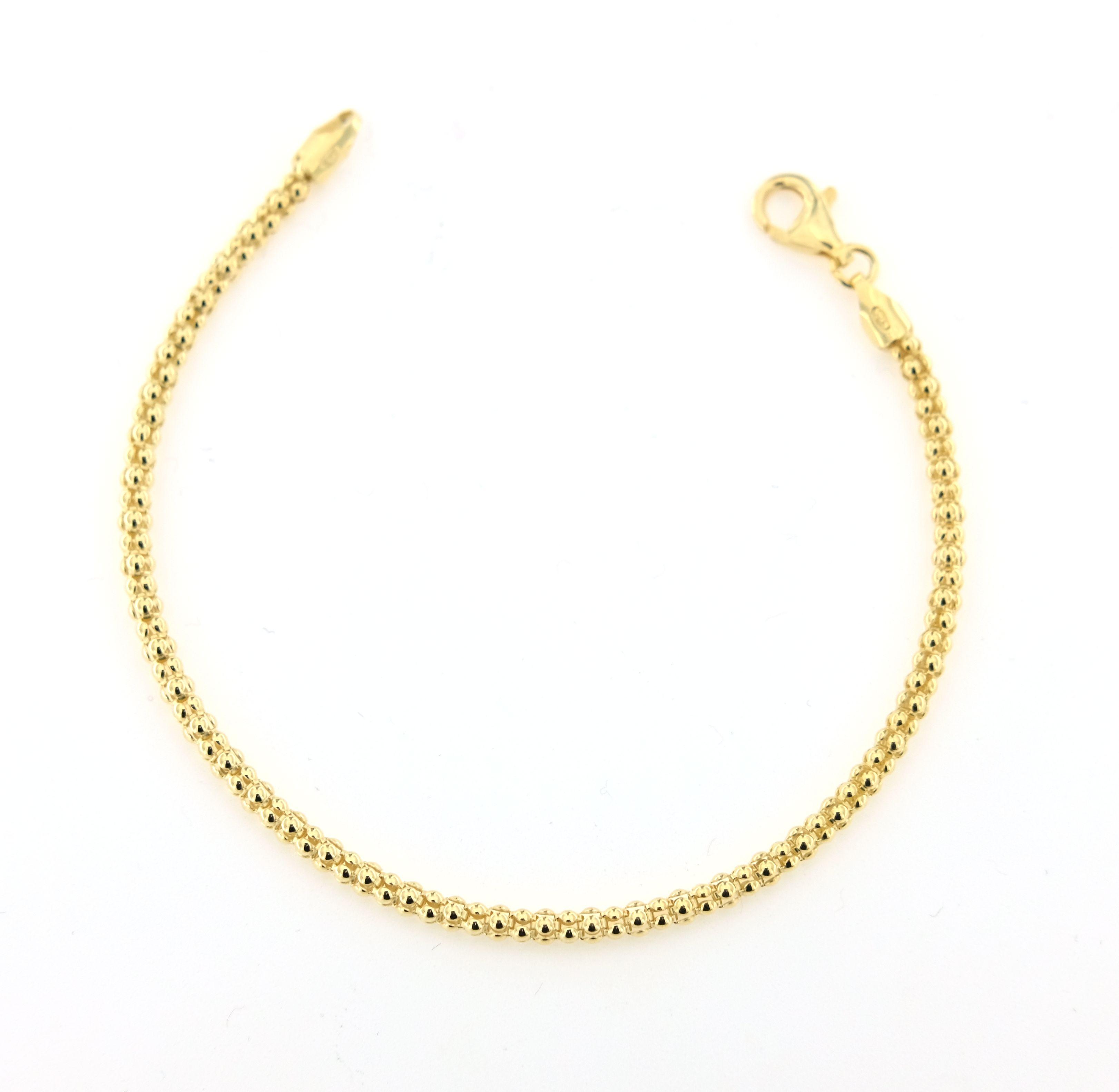 adatto a uomini/donne brillante nella lucentezza bello economico Bracciale PaciGioielli fope in argento galvanica oro