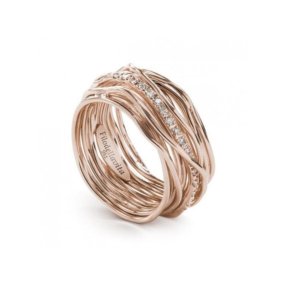 grande selezione stile distintivo Garanzia di soddisfazione al 100% Anello Rubinia Gioielli Filodellavita oro e diamanti bianchi 13 fili