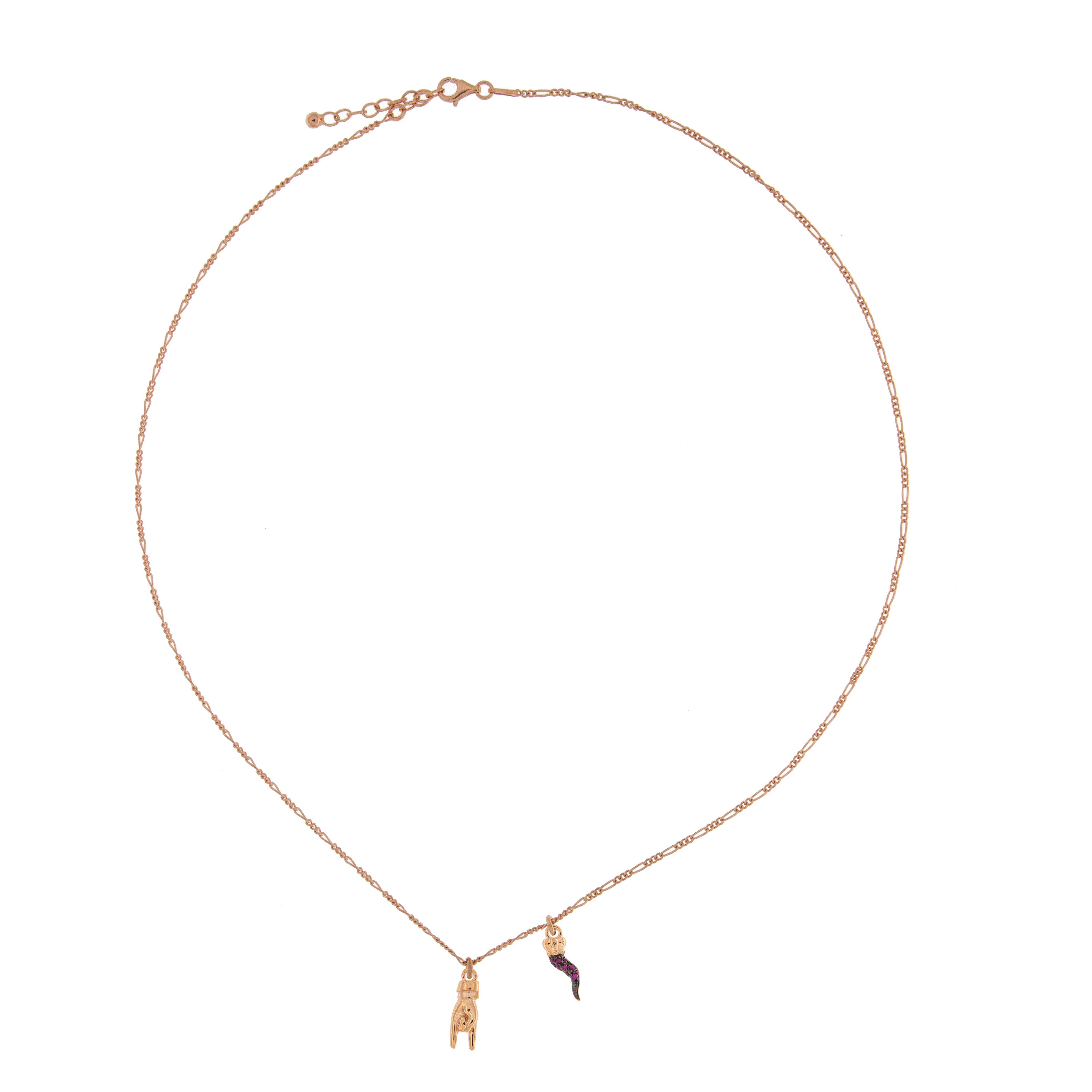 nuovo concetto bd439 5ee6c Girocollo Rue Des Mille catenella con ciondoli