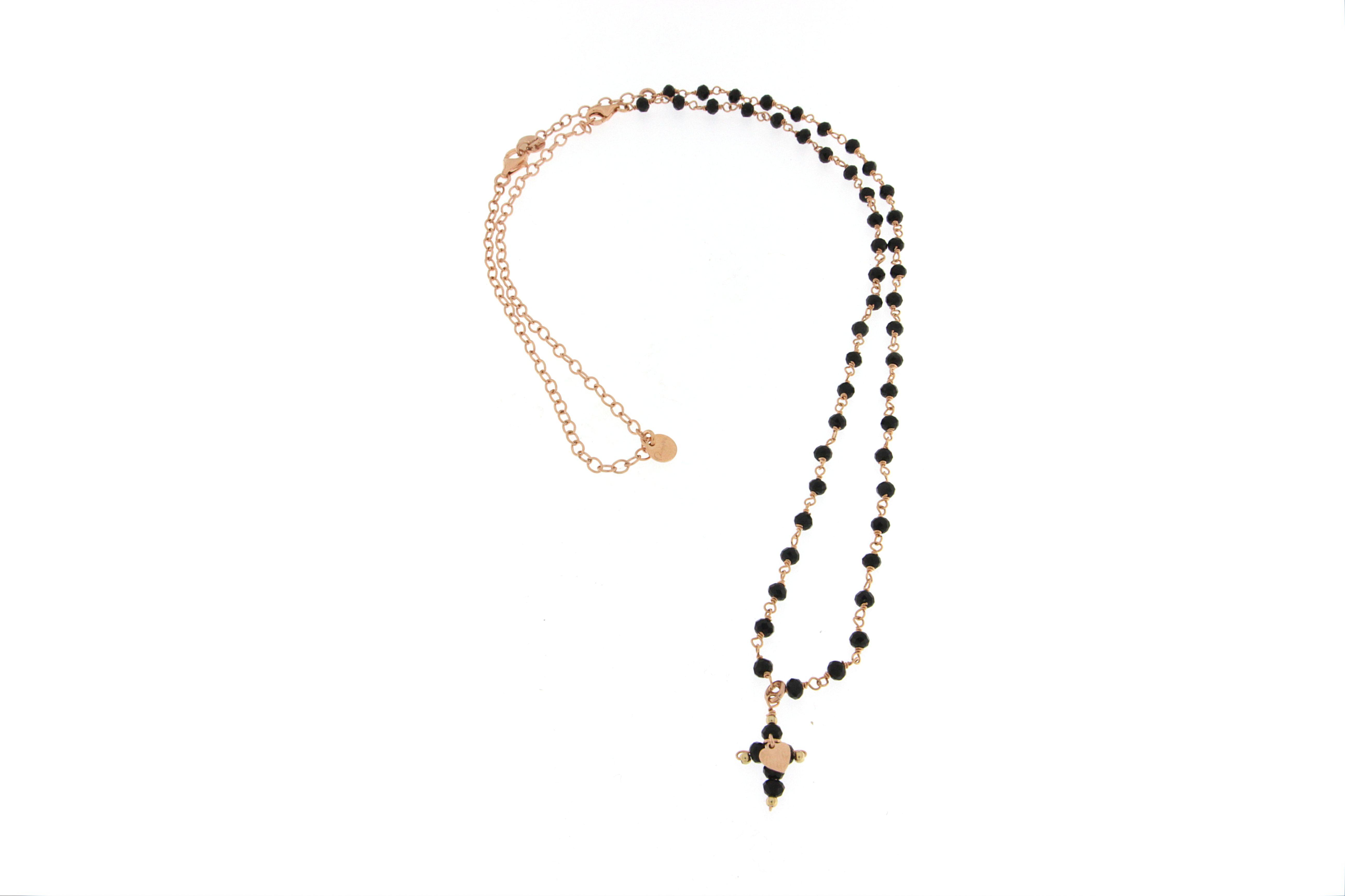 in vendita db8e6 ec8e8 Collana rosario Rue Des Mille pietre nere
